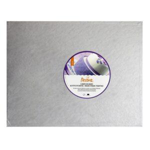 Sottotorta - Vassoio Rigido Rettangolare Argento H 1,2 cm 40 x 60 cm