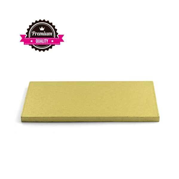 Sottotorta - Vassoio Rigido Rettangolare Oro H 1,2 cm 35 x 45 cm