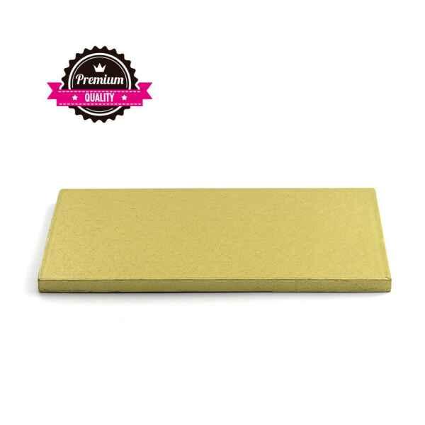 Sottotorta - Vassoio Rigido Rettangolare Oro H 1,2 cm 40 x 50 cm