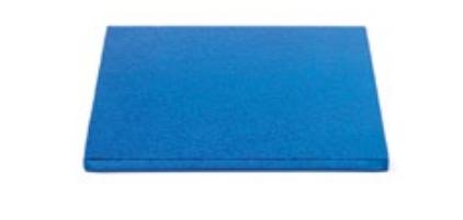Sottotorta - Vassoio Rigido Quadrato Blu H 1,2 cm 15 x 15 cm