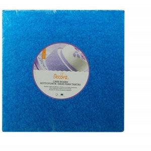 Sottotorta - Vassoio Rigido Quadrato Blu H 1,2 cm 25 x 25 cm