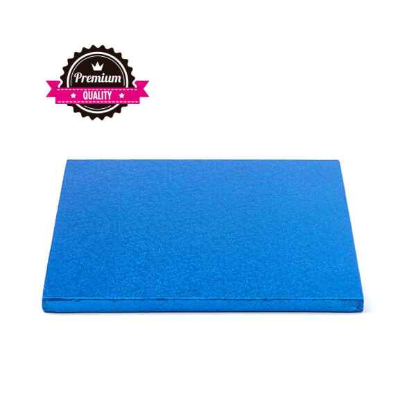 Sottotorta - Vassoio Rigido Quadrato Blu H 1,2 cm 30 x 30 cm