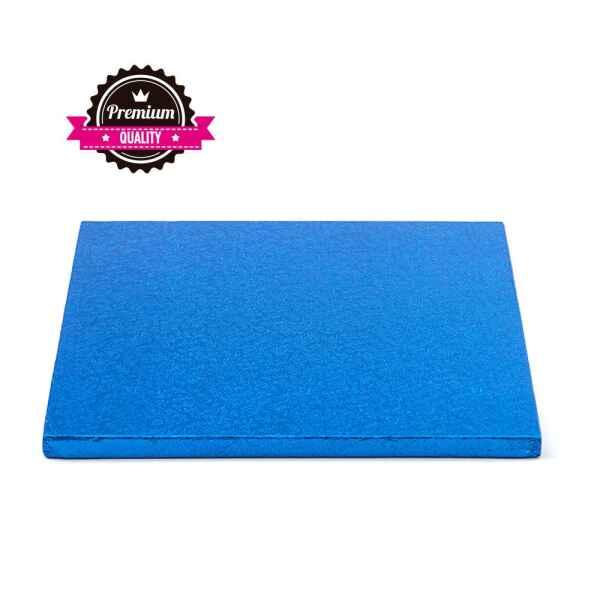 Sottotorta - Vassoio Rigido Quadrato Blu H 1,2 cm 35 x 35 cm