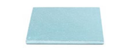 Sottotorta - Vassoio Rigido Quadrato Azzurro H 1,2 cm 15 x 15 cm