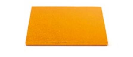 Sottotorta - Vassoio Rigido Quadrato Arancione H 1,2 cm 20 x 20 cm