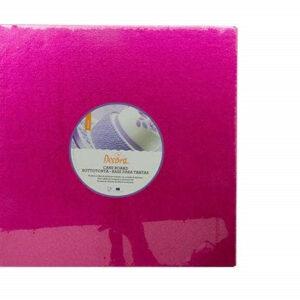 Sottotorta - Vassoio Rigido Quadrato Fucsia H 1,2 cm 20 x 20 cm