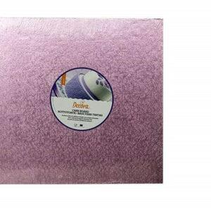 Sottotorta - Vassoio Rigido Quadrato Rosa H 1,2 cm 25 x 25 cm