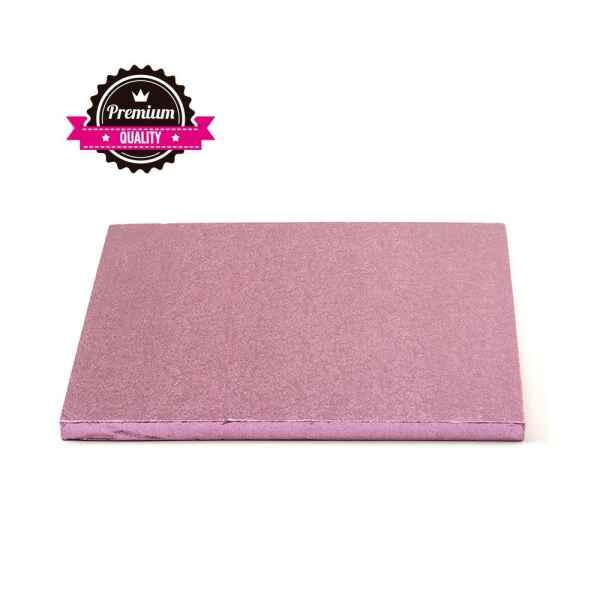 Sottotorta - Vassoio Rigido Quadrato Rosa H 1,2 cm 30 x 30 cm