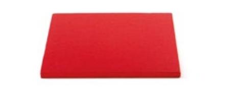 Sottotorta - Vassoio Rigido Quadrato Rosso H 1,2 cm 40 x 40 cm