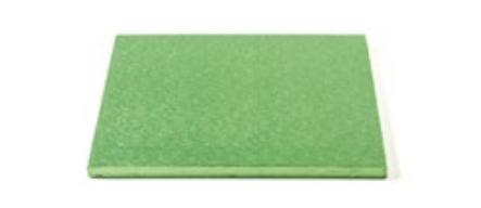 Sottotorta - Vassoio Rigido Quadrato Verde Chiaro H 1,2 cm 20 x 20 cm