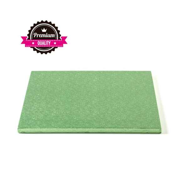 Sottotorta - Vassoio Rigido Quadrato Verde Chiaro H 1,2 cm 30 x 30 cm