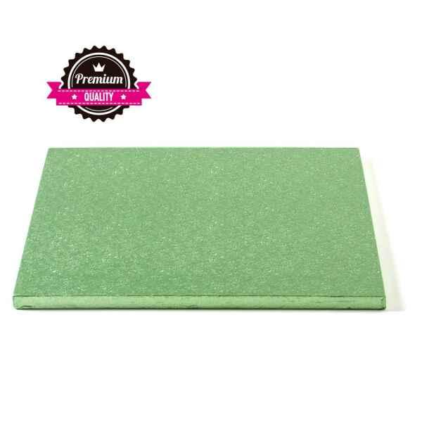 Sottotorta - Vassoio Rigido Quadrato Verde Chiaro H 1,2 cm 40 x 40 cm