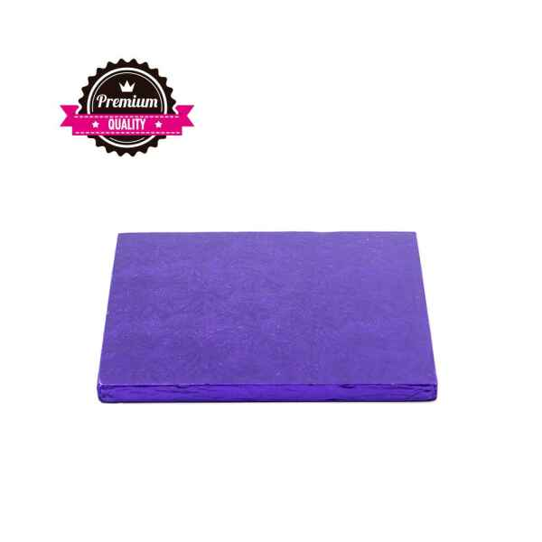 Sottotorta - Vassoio Rigido Quadrato Viola H 1,2 cm 15 x 15 cm