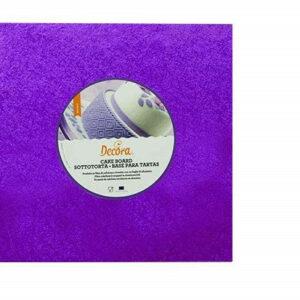 Sottotorta - Vassoio Rigido Quadrato Viola H 1,2 cm 20 x 20 cm