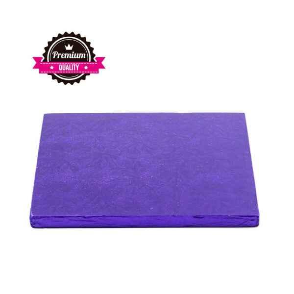 Sottotorta - Vassoio Rigido Quadrato Viola H 1,2 cm 30 x 30 cm