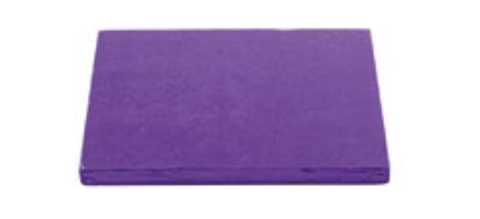 Sottotorta - Vassoio Rigido Quadrato Viola H 1,2 cm 35 x 35 cm