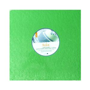 Sottotorta - Vassoio Rigido Quadrato Verde H 1,2 cm 20 x 20 cm