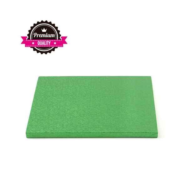 Sottotorta - Vassoio Rigido Quadrato Verde H 1,2 cm 25 x 25 cm