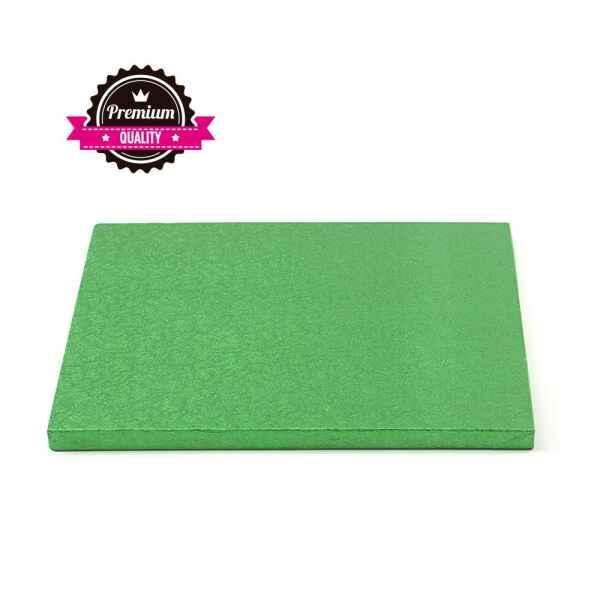 Sottotorta - Vassoio Rigido Quadrato Verde H 1,2 cm 35 x 35 cm