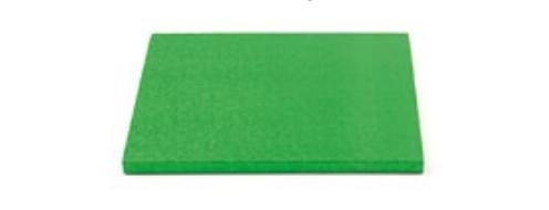 Sottotorta - Vassoio Rigido Quadrato Verde H 1,2 cm 40 x 40 cm