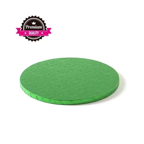 Sottotorta - Vassoio Rigido Tondo Verde H 1,2 cm Diametro 25 cm