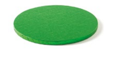 Sottotorta - Vassoio Rigido Tondo Verde H 1,2 cm Diametro 30 cm