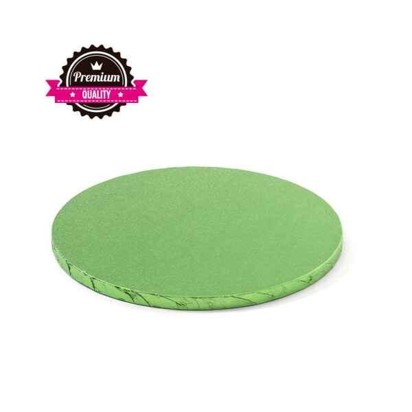 Sottotorta - Vassoio Rigido Tondo Verde Chiaro H 1,2 cm Diametro 25 cm