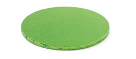 Sottotorta - Vassoio Rigido Tondo Verde Chiaro H 1,2 cm Diametro 30 cm
