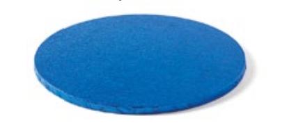 Sottotorta - Vassoio Rigido Tondo Blu H 1,2 cm Diametro 25 cm