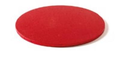 Sottotorta - Vassoio Rigido Tondo Rosso H 1,2 cm Diametro 25 cm