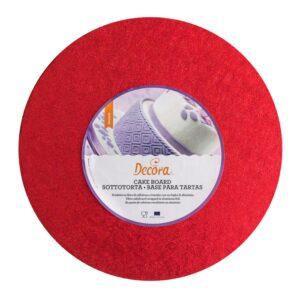 Sottotorta - Vassoio Rigido Tondo Rosso H 1,2 cm Diametro 30 cm