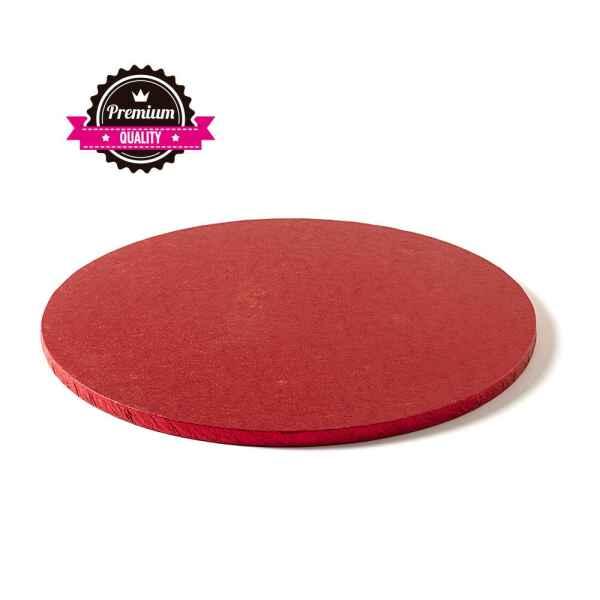 Sottotorta - Vassoio Rigido Tondo Rosso H 1,2 cm Diametro 35 cm