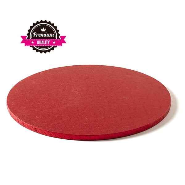 Sottotorta - Vassoio Rigido Tondo Rosso H 1,2 cm Diametro 40 cm