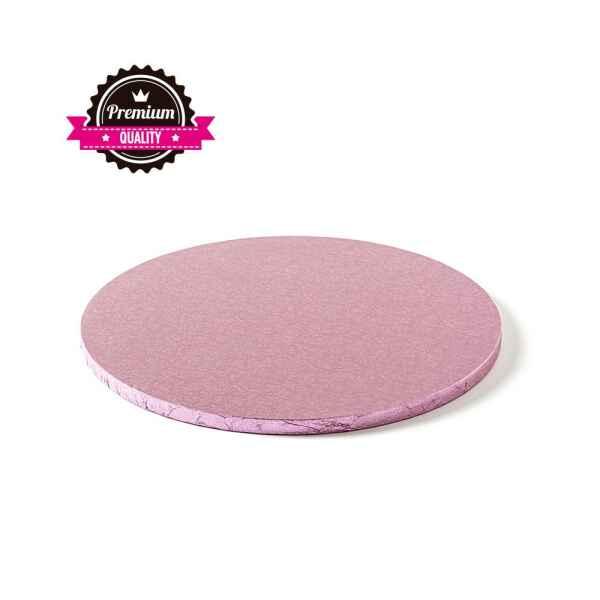 Sottotorta - Vassoio Rigido Tondo Rosa H 1,2 cm Diametro 25 cm