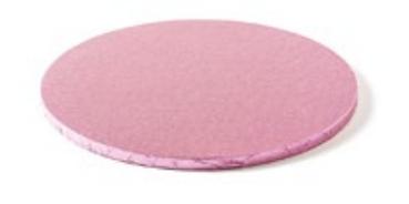 Sottotorta - Vassoio Rigido Tondo Rosa H 1,2 cm Diametro 40 cm