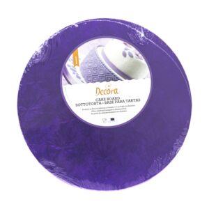 Sottotorta - Vassoio Rigido Tondo Viola H 1,2 cm Diametro 35 cm