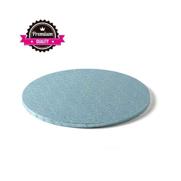 Sottotorta - Vassoio Rigido Tondo Azzurro H 1,2 cm