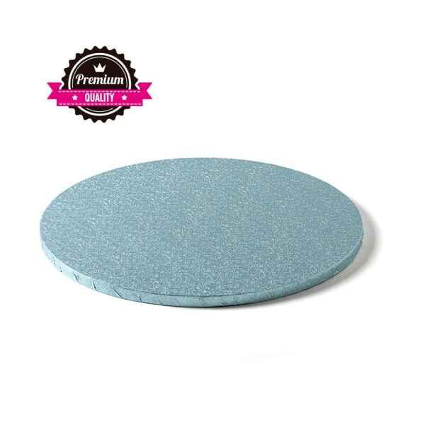 Sottotorta - Vassoio Rigido Tondo Azzurro H 1,2 cm Diametro 30 cm