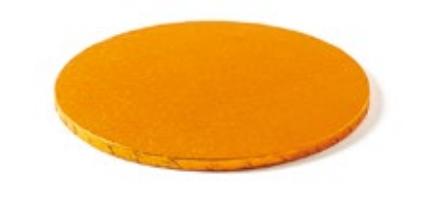 Sottotorta - Vassoio Rigido Tondo Arancione H 1,2 cm Diametro 25 cm