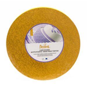 Sottotorta - Vassoio Rigido Tondo Arancione H 1,2 cm Diametro 35 cm