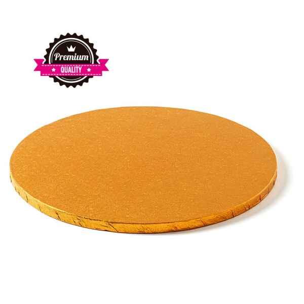 Sottotorta - Vassoio Rigido Tondo Arancione H 1,2 cm Diametro 40 cm