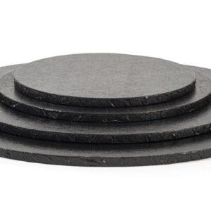 Sottotorta - Vassoio Rigido Tondo Nero H 1,2 cm Diametro 25 cm