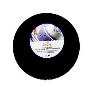 Sottotorta - Vassoio Rigido Tondo Nero H 1,2 cm Diametro 35 cm