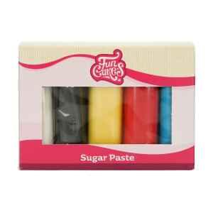 Confezione Multipla Colori Essenziali 5 x 100 g Senza Glutine FunCakes