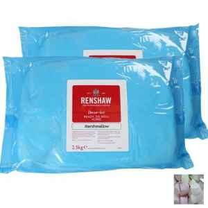 Pasta di Zucchero Rolled Fondant Pro 2,5 kg Marshmallow Whitehm Renshaw
