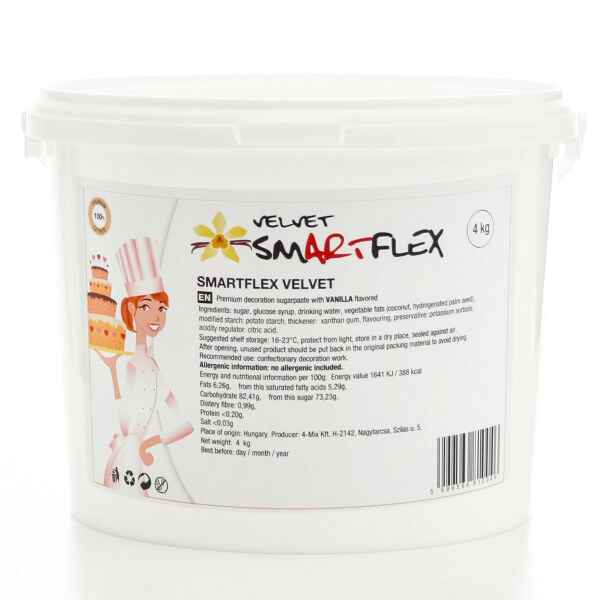 Pasta di zucchero Velvet vaniglia 4 kg Smartflex