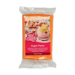 Pasta di Zucchero Fondant Arancione Tigre 250 g Senza Glutine FunCakes