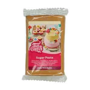 Pasta di Zucchero Fondant Teddy Bear Marrone 250 g Senza Glutine FunCakes