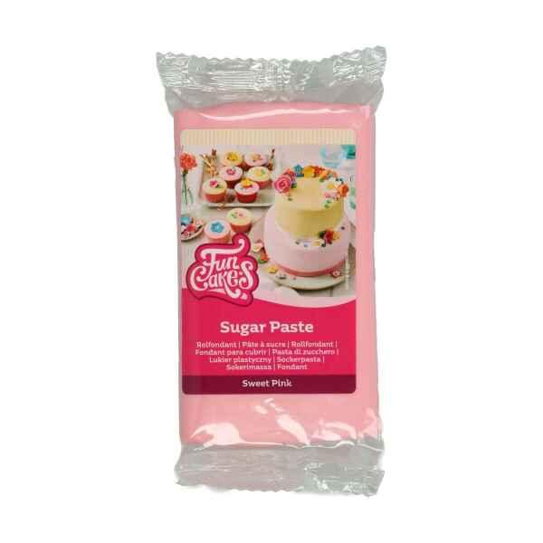 Pasta di Zucchero Fondant Rosa Sweet Pink 250 g Senza Glutine FunCakes