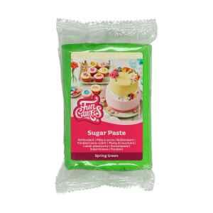 Pasta di Zucchero Fondant Verde Primavera 250 g Senza Glutine FunCakes
